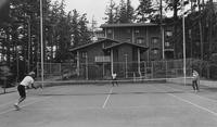 1970 Students Playing Tennis