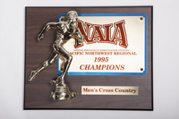 Cross-Country Running (Men's) Plaque: NAIA Pacific Northwest Regional Champions, 1995