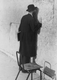 Unidentified man at the Western Wall in Jerusalem