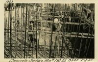 Lower Baker River dam construction 1925-08-02 Concrete Surface Run #180 El.3845