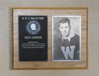 Hall of Fame Plaque: Dick Carver, Men's Basketball (Center), Class of 1981