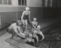 Blue Barnacles Swim Club, Members of the Blue Barnacle Swim Club Receiving Instructions