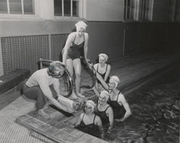 Blue Barnacles Swim Club, Members of the Blue Barnacle Swim Club Receiving Instructions