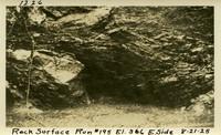 Lower Baker River dam construction 1925-08-21 Rock Surface Run #195 El.366 E. Side