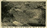 Lower Baker River dam construction 1925-08-20 Rock Surface Run #194 E. Side El.361.5
