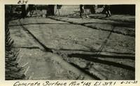 Lower Baker River dam construction 1925-06-26 Concrete Surface Run #145 El.319.1