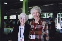 2007 Reunion--Marjorie Jean (Orphan) Nilsen and Betty (Anderson) Watson