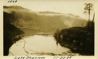 Lower Baker River dam construction 1925-11-23 Lake Shannon (with railroad trestle, only tracks visible)