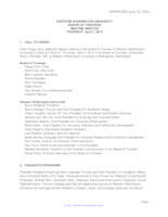 WWU Board of Trustees Minutes: 2014-02-3