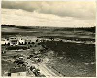 Aerial view of the United Airlines terminal at Bellingham Airport