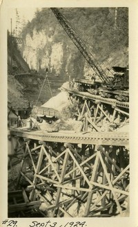 Lower Baker River dam construction 1924-09-03 Construction equipment