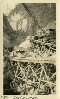 Lower Baker River dam construction 1924-09-03 Construction equipment