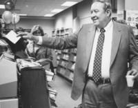 1983 G. Robert Ross Drawing Name of Winner in Bookstore Drawing