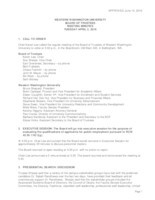 WWU Board of Trustees Minutes: 2016-04-05