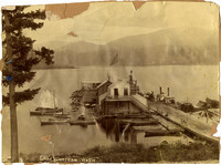 A pier on Lake Whatcom