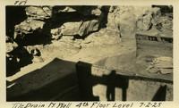 Lower Baker River dam construction 1925-07-02 Tile Drain N.Wall 4th Floor