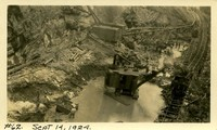 Lower Baker River dam construction 1924-09-14 Excavation in dam site