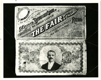 Both sides of the scrip issued by Charles Cissna in 1893 to be used exclusively at The Fair, his department store, New Whatcom, WA