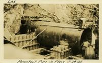 Lower Baker River dam construction 1925-05-24 Penstock Pipe in Place