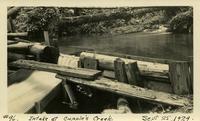 Lower Baker River dam construction 1924-09-25 Intake at Cupple's Creek