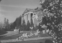 1945 Edens Hall: Front with Cherry Tree