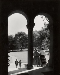 1955 Library: North Doors from Inside