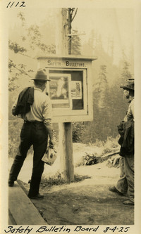 Lower Baker River dam construction 1925-08-04 Safety Bulletin Board