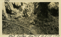 Lower Baker River dam construction 1925-06-19 Rock Surface Run #138 El.2875