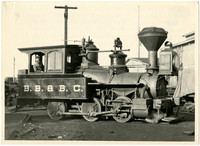 B.B. & B.C. steam train engine