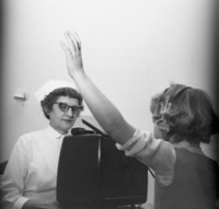 1960 Girl Having Her Hearing Testing