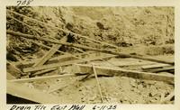 Lower Baker River dam construction 1925-06-11 Drain Tile east Wall