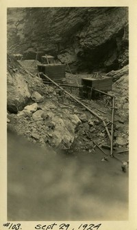 Lower Baker River dam construction 1924-09-29 Pumping activity