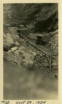 Lower Baker River dam construction 1924-09-29 Pumping activity