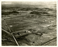 Aerial view of cleared land for construction of Alcoa Intalco aluminum facility at Cherry Point near Ferndale, Washington