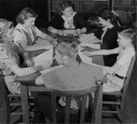 1941 Tenth Grade In Library (Class 10-A)