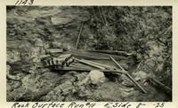 Lower Baker River dam construction 1925-08-10 Rock Surface Run #18(3) E. Side