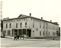 """Eureka Hotel"" on corner of Chestnut Street and Railroad Avenue, Bellingham, WA"