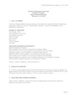 WWU Board of Trustees Minutes: 2018-02-07 and 2018-02-08