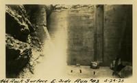 Lower Baker River dam construction 1925-04-24 Rock Surface E. Side Run #83