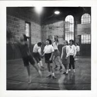 1965 Girls Doing Basketball Drills