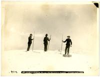 Three men on summit of Mt. Baker