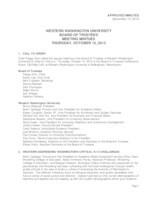 WWU Board of Trustees Meeting Records 2013 October