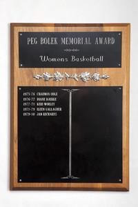 Basketball (Women's) Plaque: Peg Bolek Memorial Award, 1975/1980
