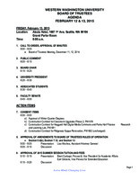 WWU Board of Trustees Packet: 2015-02-13