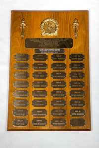 Basketball (Men's) Plaque: Presented in Memory of Former Central Head coach Leo Nicholson, 1901/1967