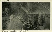 Lower Baker River dam construction 1925-08-06 Trestle on Dam