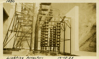 Lower Baker River dam construction 1925-10-15 Lightning Arrestors