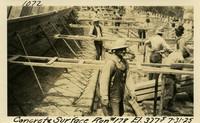 Lower Baker River dam construction 1925-07-31 Concrete Surface Run #178 El.3775