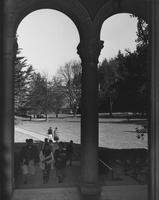 1955 Students on Library Steps