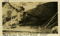 Lower Baker River dam construction 1925-08-13 Rock Surface Run  #187 W. Side